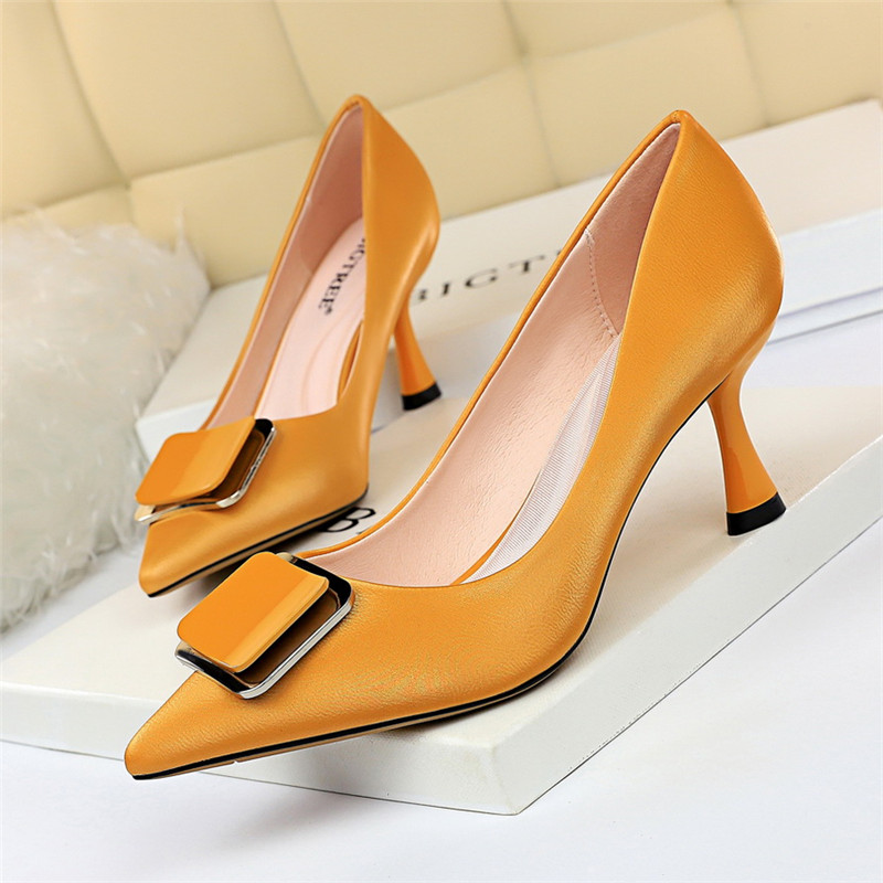 BIGTREE Ladies Pumps Dress Women Shoes Luxury Heels Pointed Top Party Shoes Office Sexy Thin Heels Shoes Fetish Mujer High Heels