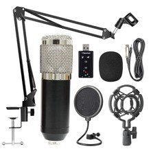 Bm800 Professionele Suspension Microfoon Kit Studio Live Stream Broadcasting Recording Condensator Microfoon Set(China)