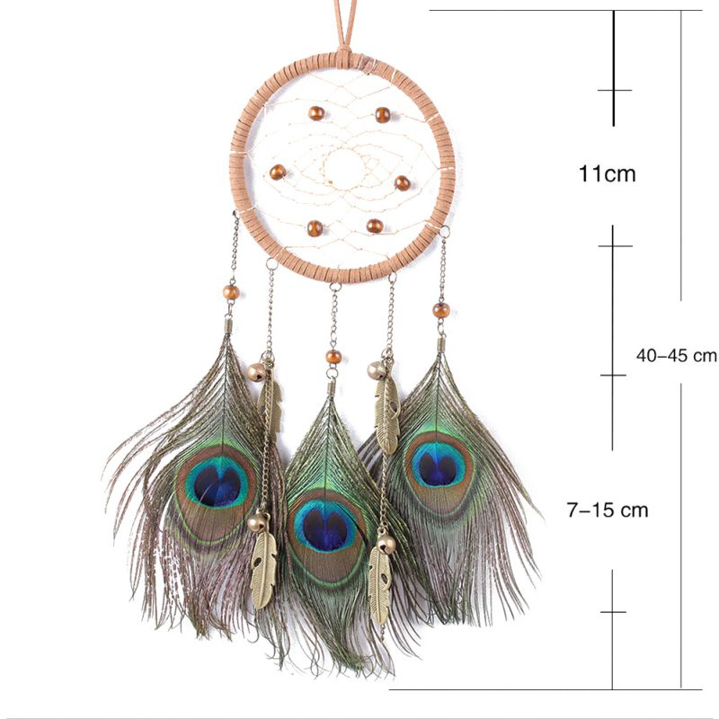#<font><b>82018</b></font> Creative Home Dream Catcher Sprayed Silver Beads 1 Circle Indian Dreamcatcher Wall Hanging Decoration Art Craft Gift CM image