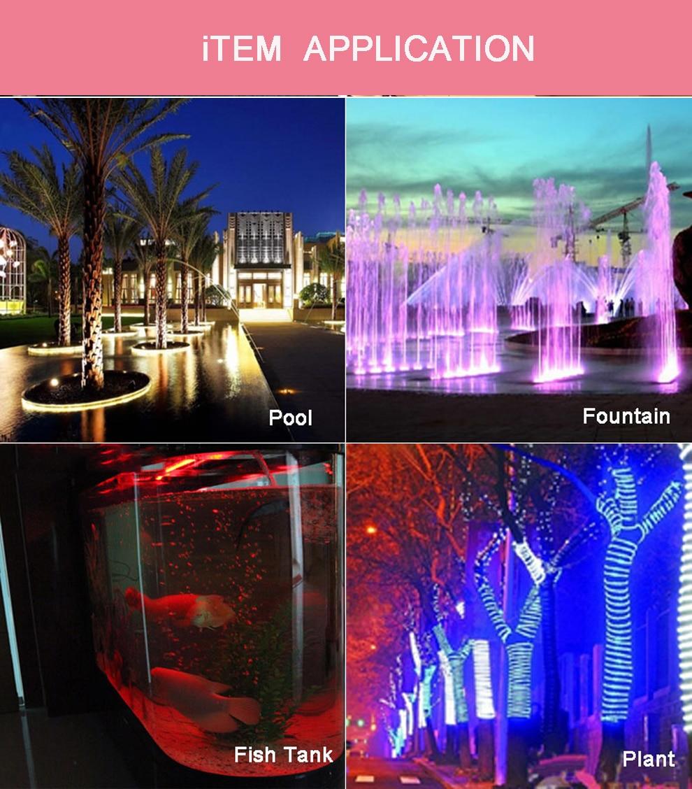 Fernbedienung 10W 20W RGB LED Licht wasserdicht Brunnen Pool Teich Strahler