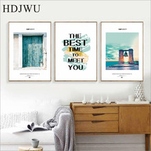 Nordic Simple Art Wall Painting Picture Fresh Scenery Home Printing Poster for Living Room  AJ00458