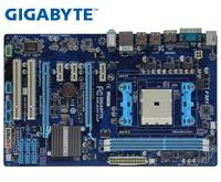 GIGABYTE GA A55 S3P Desktop Motherboard A75 Socket FM1 For A8 A6 A4 E2 32G ATX Original A55 S3P Used Mainboard|Motherboards| |  -