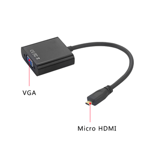 Image 2 - 마이크로 hdmi는 vga 변환기 남성 여성 케이블 어댑터에 3.5mm 오디오 잭 & usb 전원 케이블 xbox ps3/4 hd tv 라즈베리 파이 4