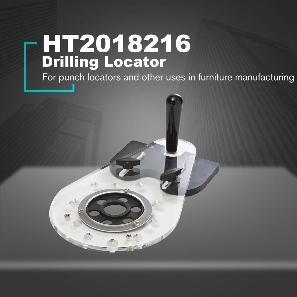 Drill Punch Locator Universal Router Base Woodworking Hole Jig Hole Drill Doweling Locator Carpenter Tool Drill Guide Locator