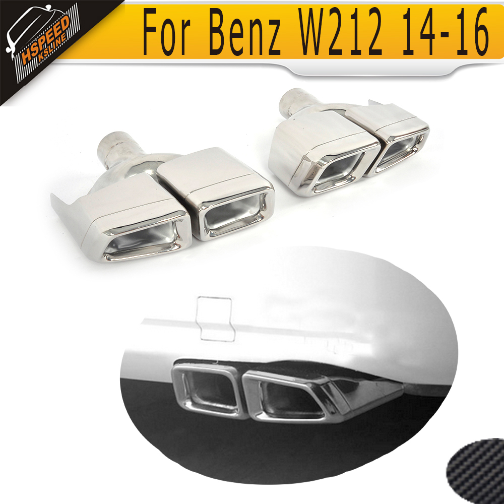 E Class car exhaust auto end pips muffe vent for <font><b>Mercedes</b></font> Benz W212 E63 AMG <font><b>E300</b></font> E400 E550 <font><b>Coupe</b></font> Sedan Convertible 2014-2016 image