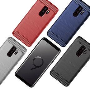 Image 5 - سيليكون قضية الهاتف لسامسونج غالاكسي S9 زائد لينة غطاء من ألياف الكربون الوفير GalaxyS9 SM G965F G960F S9plus S 9 9 Plus SM G960F