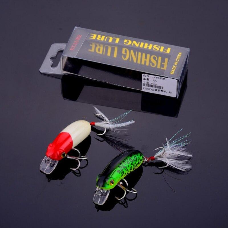 Leurres de pêche méné manivelle artificielle appât dur Topwater réaliste pêche dure Wobblers leurres de poisson avec doubles crochets aigus