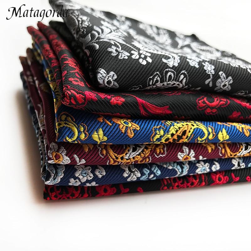Men Hanky Polka Paisley Flower Pocket Squares Handkerchief Kerchief 100% Silk Adult Scarf Banquet Dance Tuxedo Accessories
