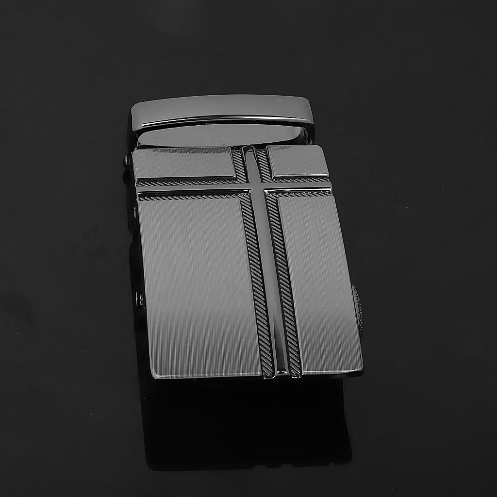 Men Alloy Automatic Belt Buckle Leather Belts Waist Ratchet Business Waistband Buckles Belts for Belt Accessories