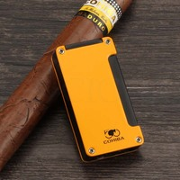 COHIBA Gas Cigar Lighter Butane 1 Torch Flame Lighters Metal Outdoor Luxury Cigarette Lighter Windproof Classic Cigars Accessory|Cigar Accessories| |  -