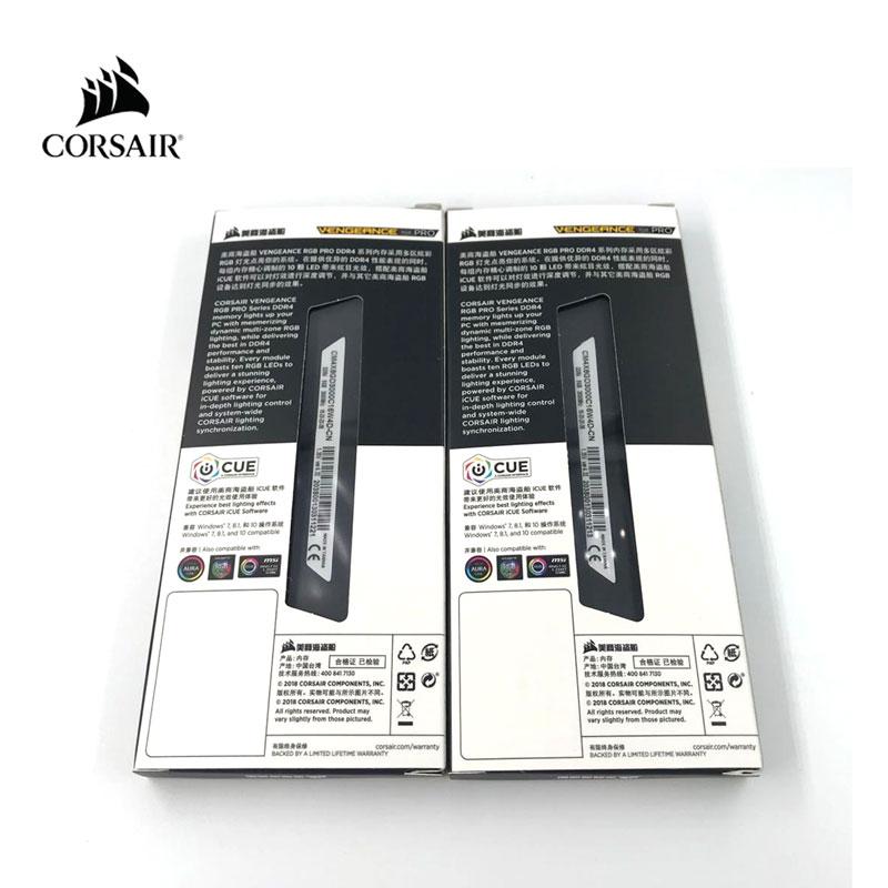 CORSAIR DDR4 RAM RGB PRO 8GB 16GB 3000MHz 3200MHz  PC4 DIMM Desktop Memory 3