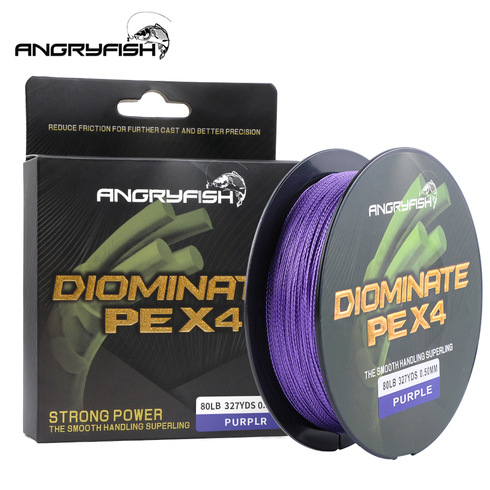 Angryfish 4 Strands Multifilament Fishing Line 327Yds/300MBraided Fishing Line PE Saltwater/Freshwater 15 20 25 30 40 50 60 80LB|Fishing Lines|Sports & Entertainment - title=