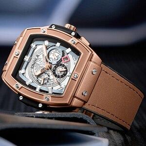 Image 4 - ONOLA tonneau square automatic mechanical watch man luxury brand unique wrist watch fashion casual classic designer watch male