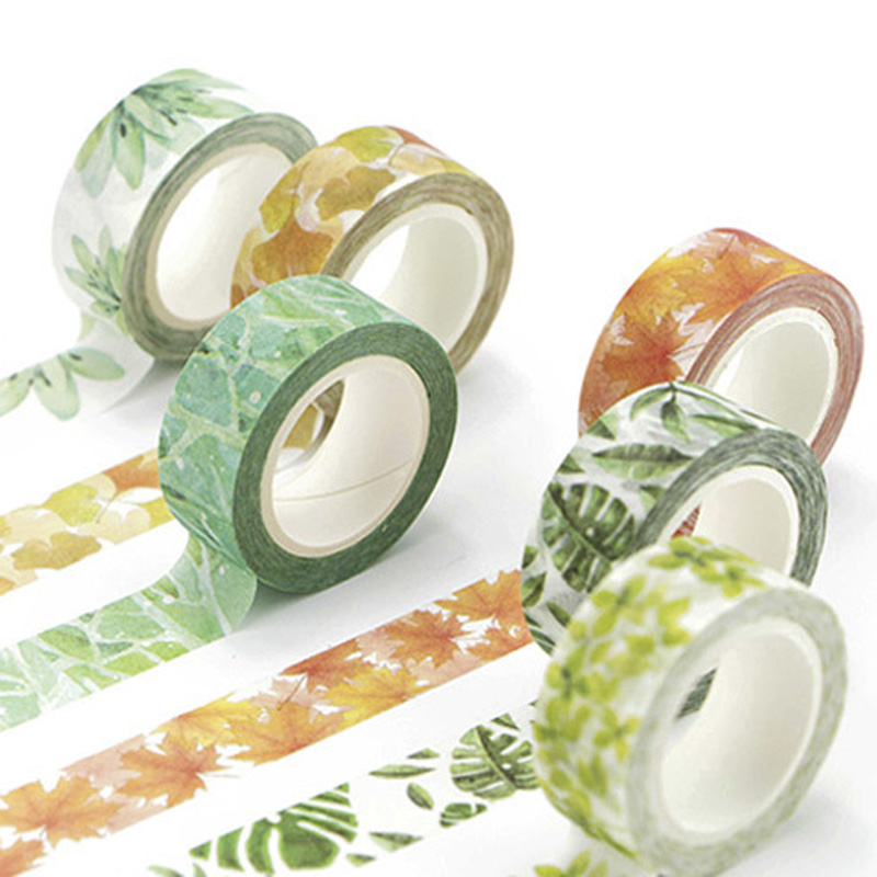 Cute Plants Flowers Japanese Masking Washi Tape Adhesive Tape Decora Diy Decorative Scrapbooking Sticker Label Stationery Gift