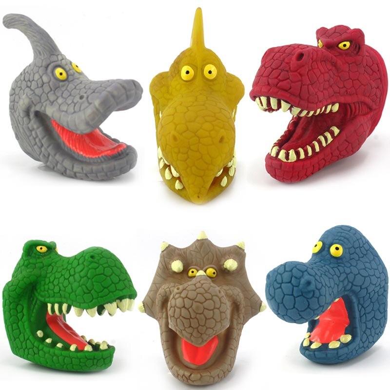 Купить динозавр пальчиковые игрушки 3d тираннозавр рекс трицератопс