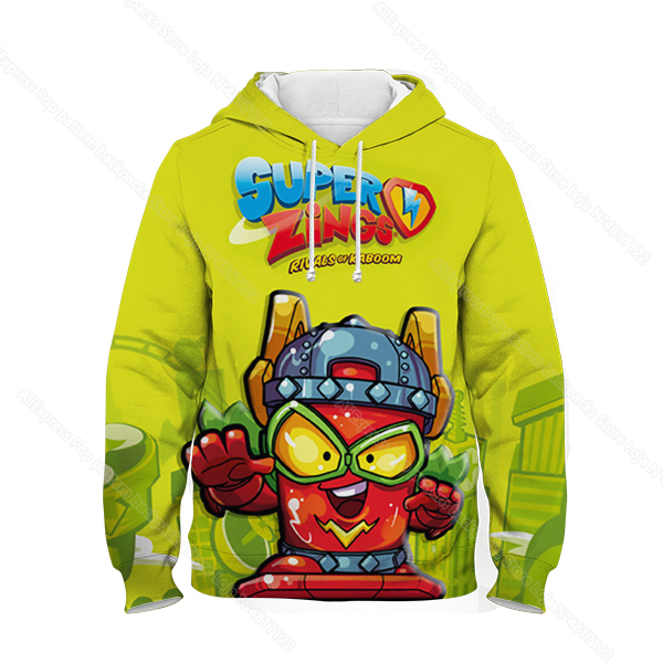 Kids 3D Print Super Zings Hoodie Autumn Winter Children Superzings 6 Series Sweatshirt Sudadera Boy Girl Cartoon Anime Pullover 15
