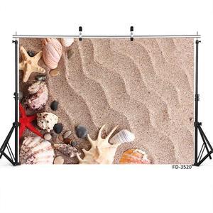 Image 2 - Denizyıldızı kabuk kabuklu dalgalanma kum fotoğraf arka plan özel Photocall zemin çocuk bebek oyuncak fotoğraf sahne Photoshoot