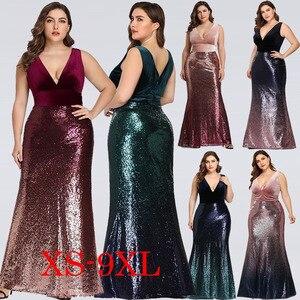 Image 1 - PLUS ขนาดแม่เจ้าสาวชุดเจ้าสาว Pretty Mermaid Sequined ยาว Gowns อย่างเป็นทางการสำหรับงานแต่งงาน Vestidos Para Madre De พจนานุกรม Novia