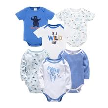 2019 Kavkas Newborn Baby Boys Bodysuit Sets100% Cotton Infant Jumpsuit Onesie Clothing Summer Girls Clothes Roupa de