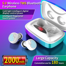 TWS 5.0 Bluetooth Earphone Stereo Mini Wireless Sports Waterproof Game With Dual Microphone
