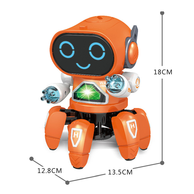 Dance Music 6 Claws Robot Octopus Spider Robots Vehicle Birthday Gift Toys For Children Kids Early Education Baby Toy Boys Girls 4