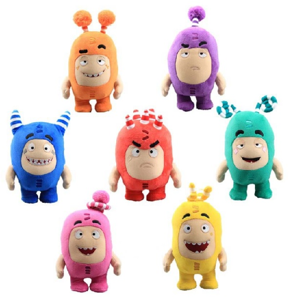 7pcs/set 18cm Plush Toys Christmas Gifts Oddbods Cartoon Fuse Jeff Newt Odd ZEE Bods Stuffed Animals Doll Toys For Kids Gifts