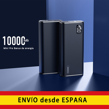 REMAX 10000mAh portable power bank external battery type C input, compatible dual USB Micro and 3 output ports