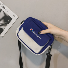 2020 new female bag casual messenger small bag canvas bag ins sen literary shoulder bag Korean Japanese small square bag