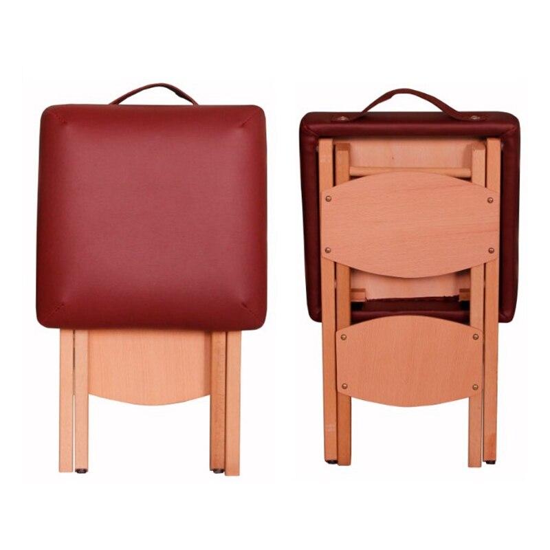 Салон красоты твердый бук складной стул Мода из искусственной кожи сиденье массажный стул высокого класса портативный Campstool стул кровать Foottool