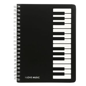 Creative Modern Design Party Favors Craft Stylish Piano Keyboard Notebook Memo Spiral Coil Bound Music Sketchbook Gift Durable