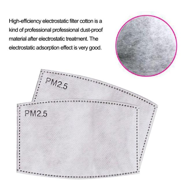 New Dust Mask PM2.5 Filter Anti-Fog Anti Dust Flu Face Mask Filter Healthy Air Filter Dustproof Antibacteria Protective dropship 2