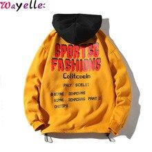 Newest Japan Style Fleece Hoodies Sweatshirts Men 2019 Winter Casual Harajuku Pullovers Sweatshirt Hip Hop Oversized Streetwear