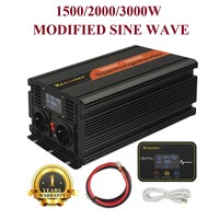 12V 220v 1500/2000/3000W Modified Sine Wave Power Inverter Dc Ac Fast Charger Supply with Wireless Remote Control USB Comverter