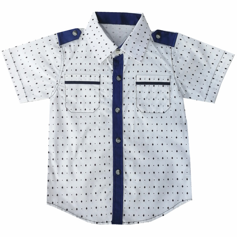 Summer 2020 New Baby Shirt Boy Menino Camisa Boys Shirts Short Sleeve Classic Casual Shirt Kids Clothing Lapel Kids Clothing