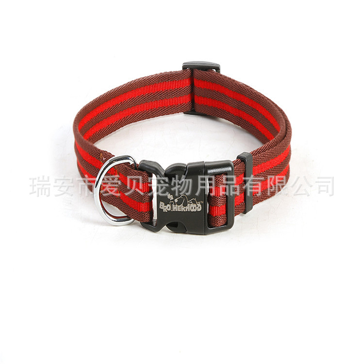 New Products Pet Dog Traction Nylon Item Collar Customizable