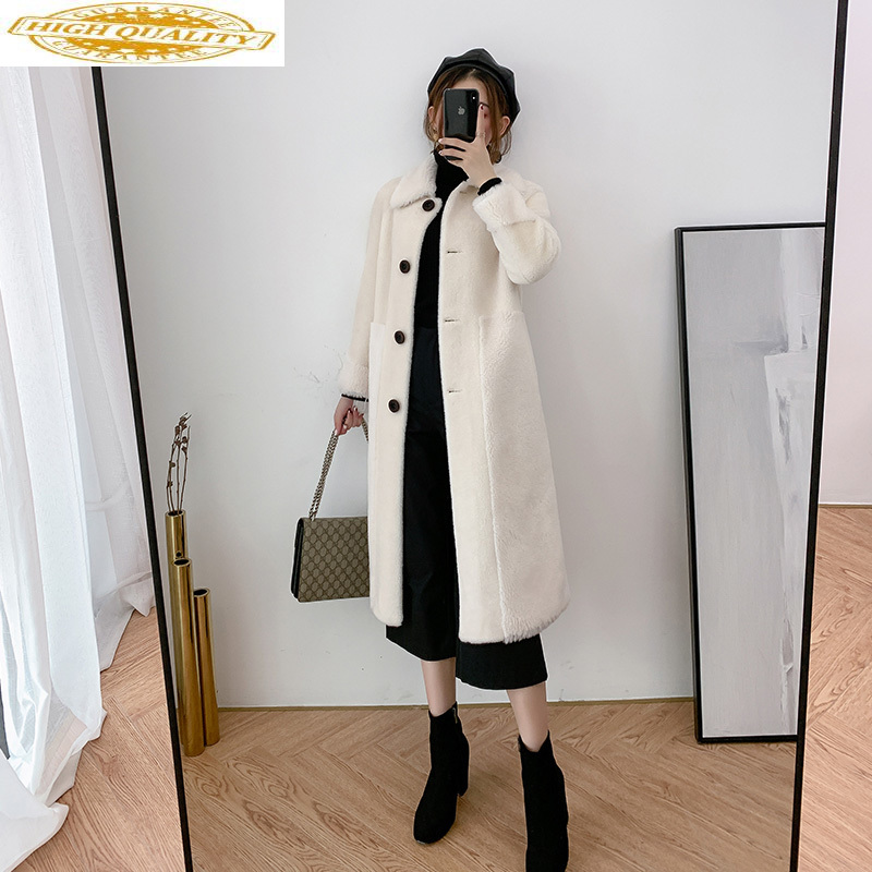 Real Fur Coat Women Sheep Shearing Winter Jacket For Women Clothes 2020 Korean Wool Fur Coats And Jackets Y075 KJ3043