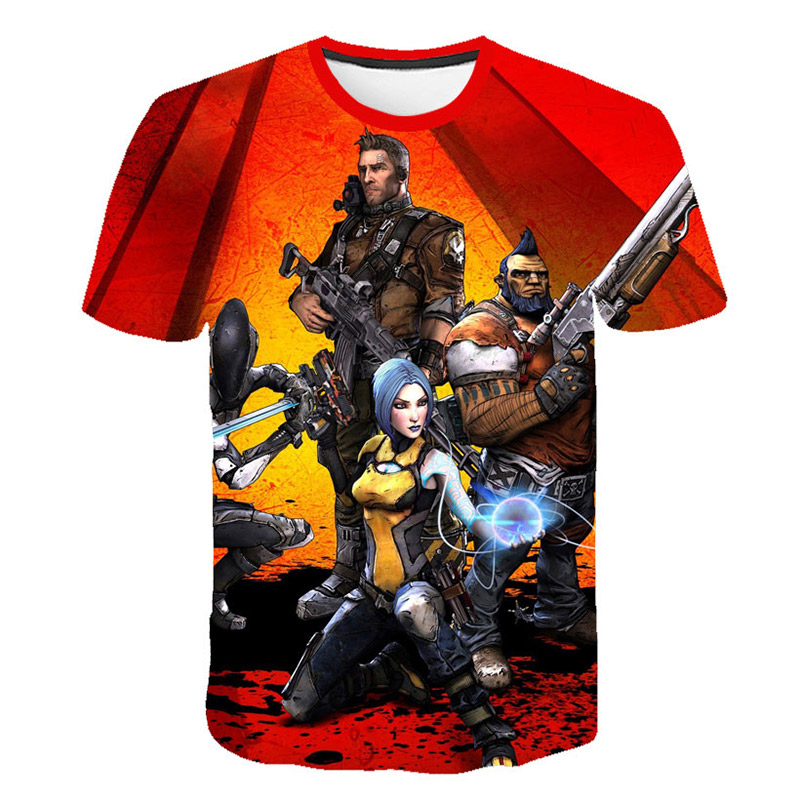 Summer Fashion Casual New Game <font><b>Borderlands</b></font> 3 T-Shirts Newest 3D Print Popular Game <font><b>Borderlands</b></font> 3 T-Shirt Men Women Tops Hipster image