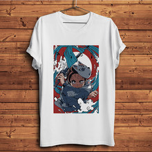 Woda oddech Kamado Tanjirou Demon Slayer zabawna koszulka anime mężczyźni dorywczo Kimetsu nie Yaiba manga t koszula unisex streetwear tee