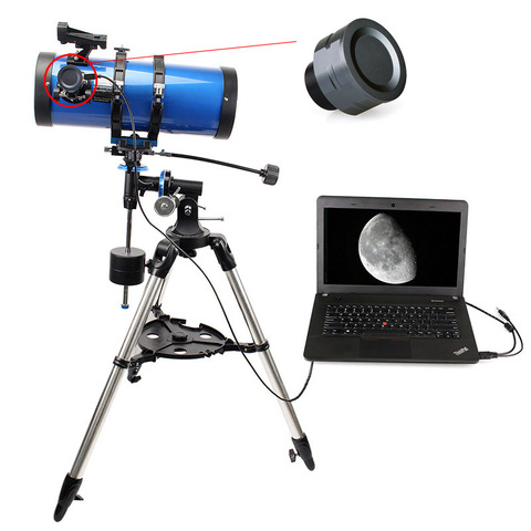 1 25 polegadas ocular eletronico profissional 2 milhoes de pixels astronomico telescopio acessorios para astrofotografia