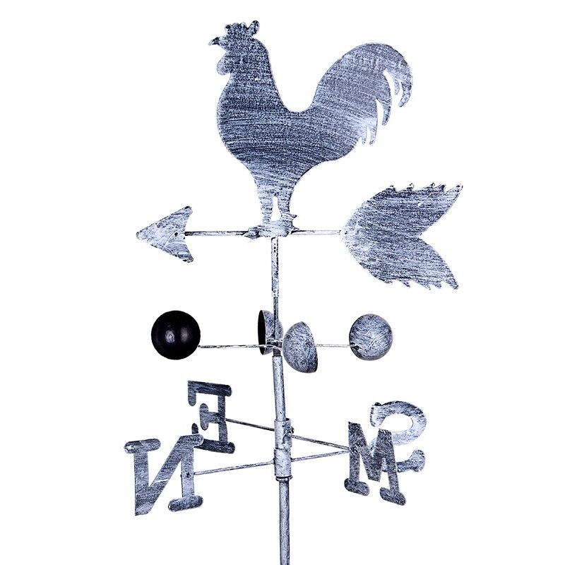 120//130cm Height Iron Rooster Chicken Weathervane Roof Mount Wind Garden Decor