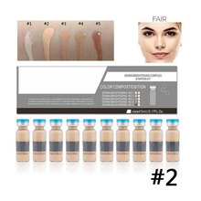 10pcs Women Home BB Cream Matte Makeup Portable Long Lasting Cosmetic Full Cover Meso Glow Serum Salon Facial Liquid Foundation