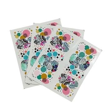 цена на Slider Flowers Full Wrap Sticker Water Transfer Nail Art Beauty Decal Slider Nail Stickers A04