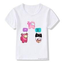 Модная новая детская футболка с принтом kuromi crewmate детские