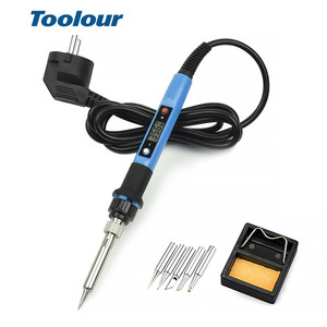 Image 2 - Toolour 80W 220V/110V Adjusting Temp Electric Soldering Iron LCD Digital Display  Welding Repair Tools Carving knife Tool Kit