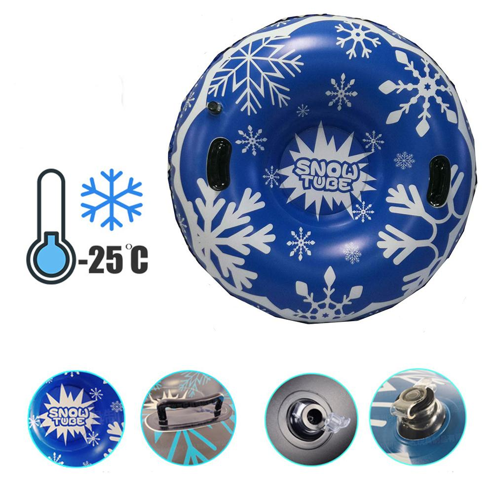 Ski Circle With Handle Inflatable Ski Circles Of Snow Tube Skiing Thickened Size Circle Snow Water Skiing For Kids And Adults