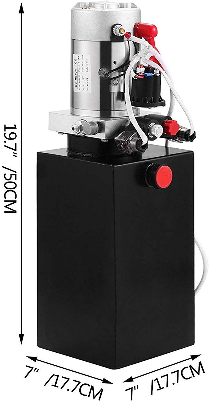 Centralina idraulica 8L Pompa a doppio effetto Potenza idraulica 12V - Utensili elettrici - Fotografia 2