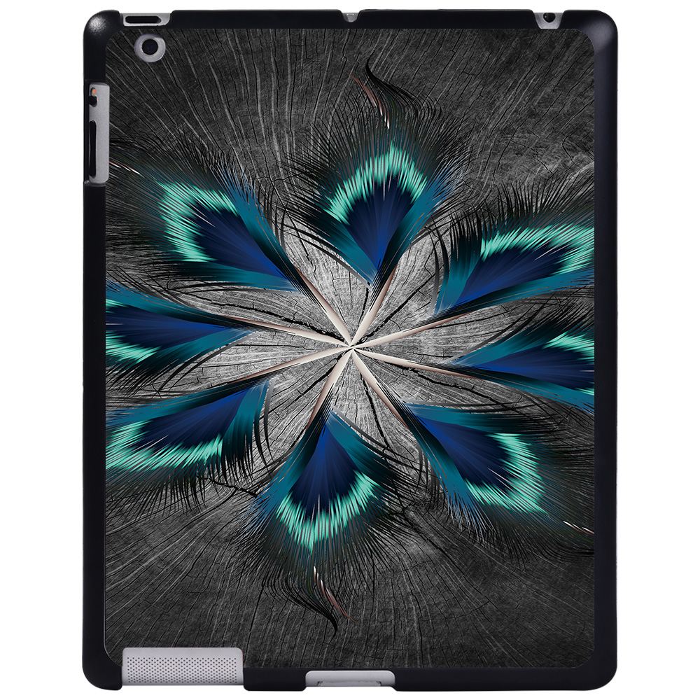 peacock tail feather Blue For Apple iPad 8 10 2 2020 8th 8 Generation A2428 A2429 tablet PC Plastic Printed