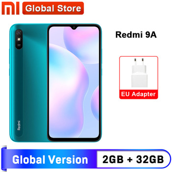 Global Version Xiaomi Redmi 9A Mobile Phone 2GB 32GB ROM MTK Helio G25 Octa Core 6.53'' 5000mAh 13MP Camera Smartphone