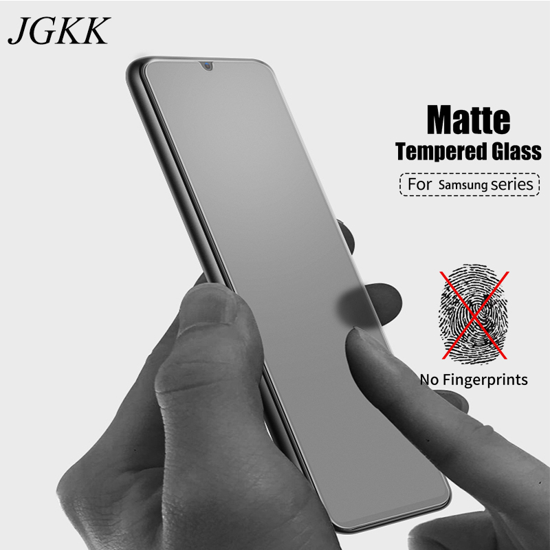JGKK Matte Anti Fingerprint Tempered Glass For Samsung Galaxy A10 A30 A50 Frosted Screen Protector For Galaxy A10 A30 A50 Film