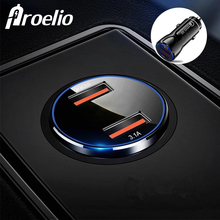 Proelio Quick Charge 3.0 Fast Multi USB Car Charger For Xiaomi iPhone X XR Portable Charging In the car